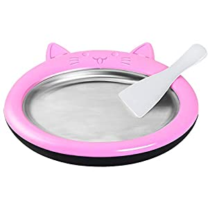 Gyz Macchina per Ghiaccio Fritto Macchina per Yogurt Fritto Rotoli di Ghiaccio Fai-da-Te per Bambini, Griglia per Gelato… 6 spesavip