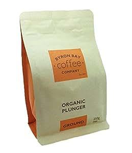 Byron Bay Coffee Company Certified Organic Coffee, Plunger Ground, 250g
