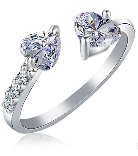 Yutii Platinum Plated Austrian Crystal Ring For Women
