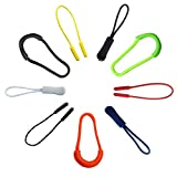 Plastic zipper pull rope Tags Cord Zip Replacement 9 Pack Zip Pulls Fixer,Zip Tags Cord Pulls Zipper Extension Zip Slider