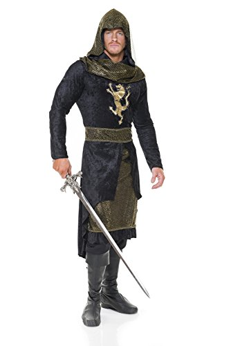 Charades Men's Renaissance Prince, Black/Gold -