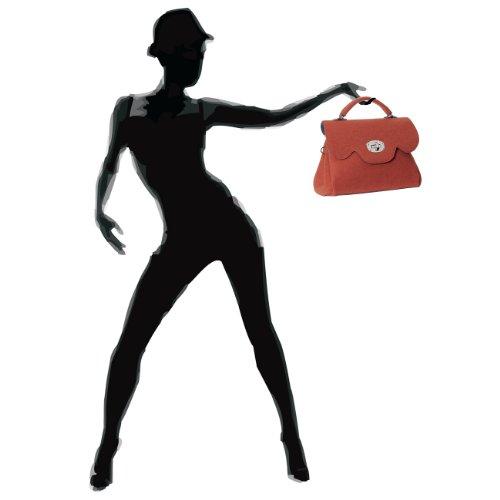 Arancione Borsa Caspar Mano Fashion A Donna qCxwOFS
