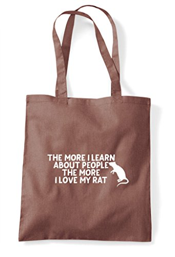 Tote I People Funny Lover Rat More Pets Love Shopper The Person Bag Chestnut Learn Animal About My O5Fw7qnB