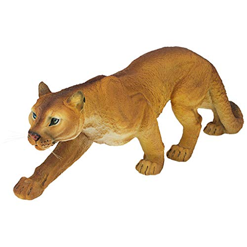 Design Toscano JQ5745 Prowling American Mountain Cougar Garden Statue, 22 Inch, Full Color