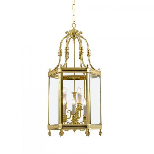 Crystorama Lighting 948-PB Lantern, Polished Brass (Crystorama Lamp Shades)