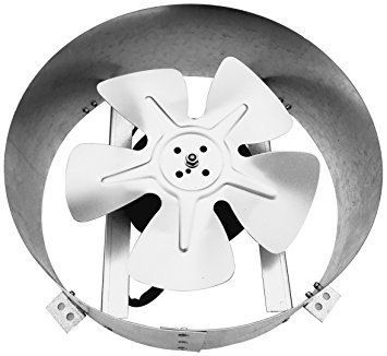 Amtrak Solar Powerful Galvanized Steel 80 Watt Fan Motor New Upgraded 14 Solar Fan Quietly Cools and Ventilates Your House, Garage or RV and Protects Against Moisture Build-up.