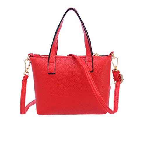 VIASA Women Fashion Handbag Shoulder Bag Tote Ladies Purse Massenger Bags (red) Duffle Purse Handbag