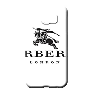 samsung galaxy s6 edge Ultra Compatible High Quality cell phone carrying shells Burberry famous top?brand logo