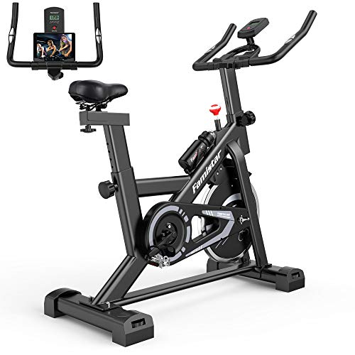 40 lbs Quiet Flywheel Max.300 lbs Capacity Exercise Bike, Carbon-Steel Heavy-duty Indoor Cycling Stationary Bike with…
