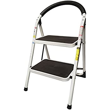 StepUp Heavy Duty Steel Reinforced Folding 2 Step Ladder Stool - 330 lbs Capacity  sc 1 st  Amazon.com & StepUp Heavy Duty Steel Reinforced Folding 2 Step Ladder Stool ... islam-shia.org