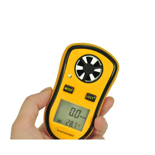 LCD Digital Portable Spot Wind Speed Meter Gauge Anemometer Measures and NTC Temperature