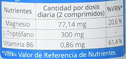 Naturlider Triptofano Magnesio Vitamina B6 120 Unidades 70 g ...