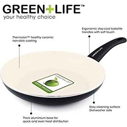 Amazon.com: Soft Grip Non-Stick Frying Pan Color: Black, Size: 12 ...