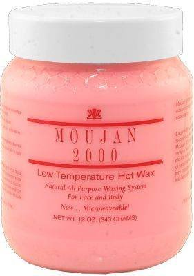 2000 Wax (Moujan 2000 Low Temperature Hot Wax for Face and Body ( Microwavable Jar ) 343g/12oz)