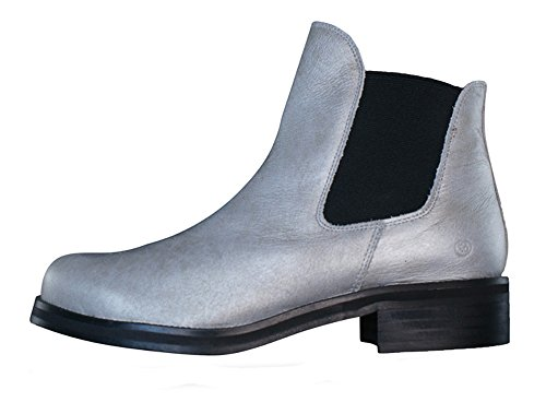 SixtySeven SixtySeven SixtySeven 67 Led Womens Leather Ankle Boots - Silver B00GL1CDHK Shoes 537459