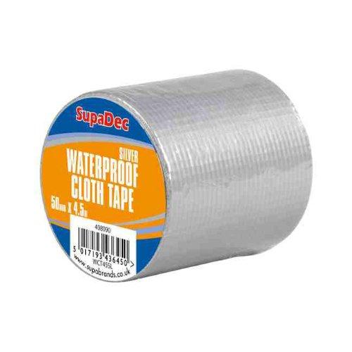 SupaDec Silver Waterproof Cloth Tape 48mm x 4.5m (6 pack)