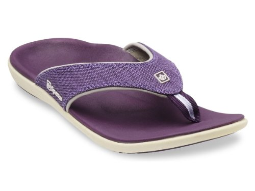 Spenco Yumi Canvas - Supportive Sandals Deep Purple - 11 (Athletic Canvas Sandals)