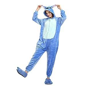 AEIL Tutina per Adulti Pigiama Donna Abbigliamento da Notte Caldo Abbigliamento per la casa Punto di Dinosauro Unicorno… 8