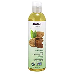 NOW Solutions Organic Almond Oil, 8-Ounce
