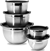 Meal Prep Stainless Steel Mixing Bowls Set, Home, Refrigerator, and Kitchen Food Storage Organizers | Ecofriendly,...