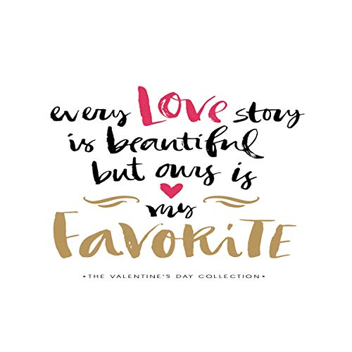 T&H Home Every Love Story is Beautiful Aquarium Décor Backgrounds,But Ours is My Favorite Fish Tank Background Aquarium Sticker Wallpaper Decoration Picture PVC Adhesive Poster 36.4