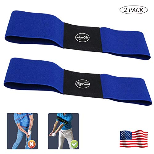 Amy Sport Golf Swing Arm Band Training Aid Motion Posture Correction Belt Value 2 Pack, Professional Beginner Practice Tools for Men Women Kids(Blue & 2 PCS) (Best Female Golf Swing)