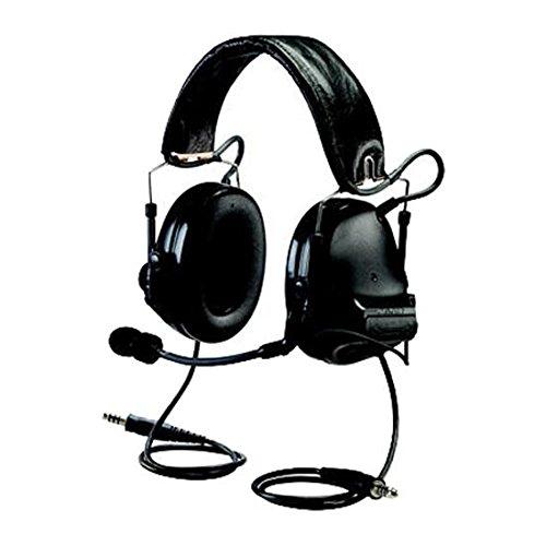 3M PELTOR SWAT-TAC 93352 PELTORSWAT-TACIII MT17H682FB-19 SV Advanced Combat Helmet (ACH) Communication Headset, Dual COMM, Headband, 4.75'' Height, 7.88'' Length, 5.63'' Width, Black
