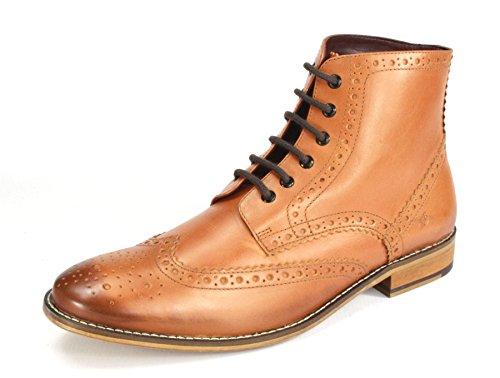 Richelieus en à cuir lacets Brogues Gatsby élégants pour homme peau London UqgwBHU