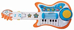 In guitar mode, strum the strings or create awesome sounds with the whammy bar.  In drum mode, simply flip over the whammy bar and bend up the handle to reveal a cymbal and drum.  Your little rock star can jam all day long with the S...