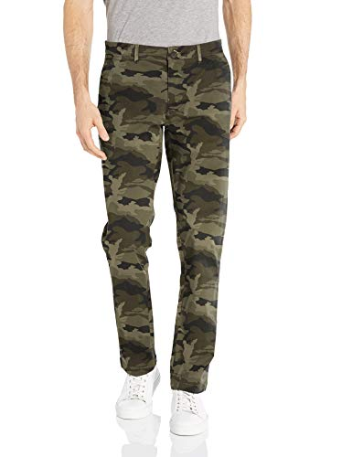 Goodthreads Men's Slim-Fit Washed Stretch Chino Pant, Green Camo, 32W x -