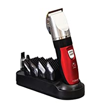 Professional Haircut Beard Trimmer Hair Clippers Beard Grooming Styling Kit 4 Comb Set + 5 Gear Modes + Oil + Cordless Rechargeable Hair Shaver Device