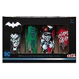Zak Designs BTMF-S433 DC Comics Shot Glasses, 2oz 4 Piece, Batman Harley Quinn Joker