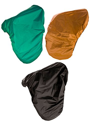 Nylon All Purpose Saddle - PREMIUM ENGLISH HORSE SADDLE COVER NYLON WATER PROOF ELASTIC ALL PURPOSE (Green)