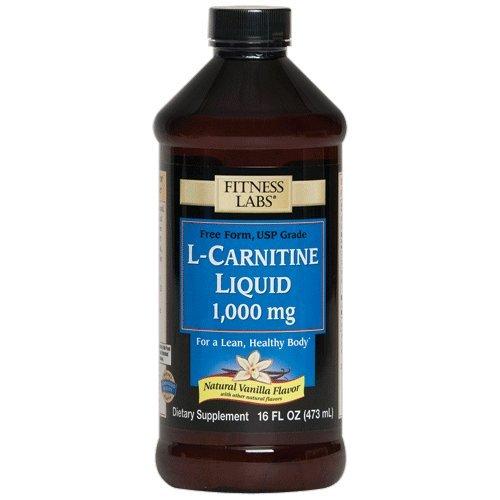 Fitness Labs L-Carnitine Liquid 1000mg Natural Vanilla, 16 Fluid Ounces
