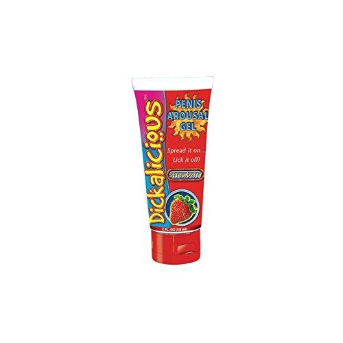Strawberry DICKALICIOUS penis arousal gel oral lube sex banana strawberry raspberry colada