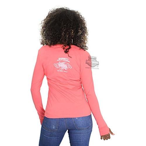 Harley-Davidson Womens Fast Freak Flames Pink Long Sleeve