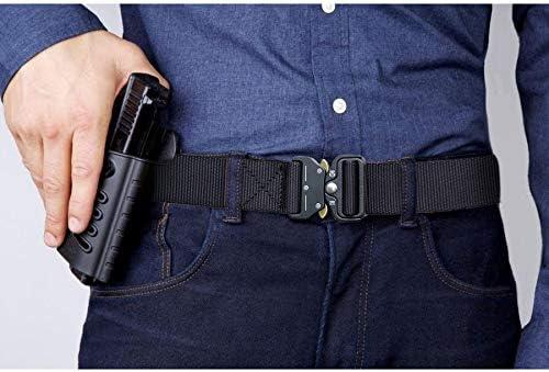 Fairwin Cintur/ón t/áctico correas de cintur/ón web con hebilla de metal de liberaci/ón r/ápida y alta resistencia cinturones de estilo militar