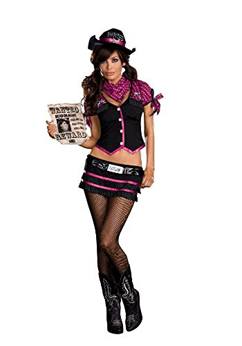 Women's Wanted! Cowgirl Robyn D. Bank (As Shown;Small) (Sexy Cowgirl Lingerie)