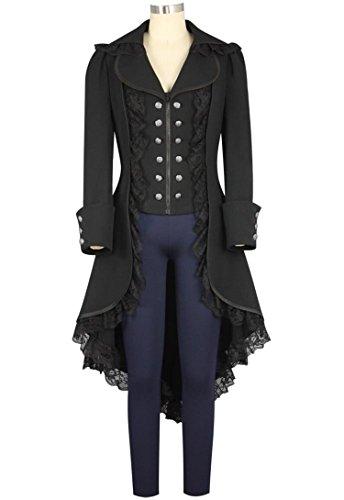 Women's Tuxedo Gothic Tailcoat Jacket Steampunk VTG Victorian Coat Wedding Uniform -