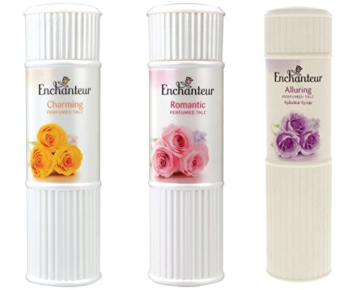 (Enchanteur Perfumed Body Talcum Powder Charming, Romantic & Alluring Scent ( Pack of 3 X 100 g.) by Enchanteur)