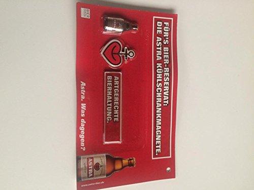 Astra Bier Magnete 3 stk Kühlschrankmagnete