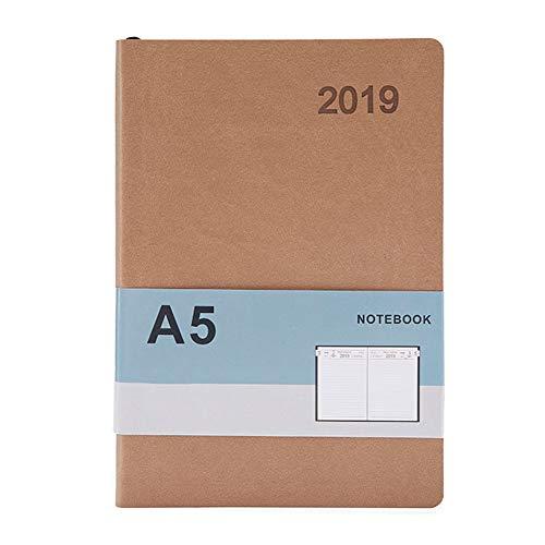 Agenda 2019 con calendario y planificador semanal, tamaño A4, con fecha semanal y fecha semanal, Marrón (light coffee),...