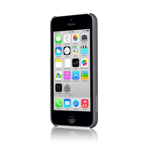 GGMM ipc00202 PC Hard Solid Color Case für Apple iPhone 5C schwarz