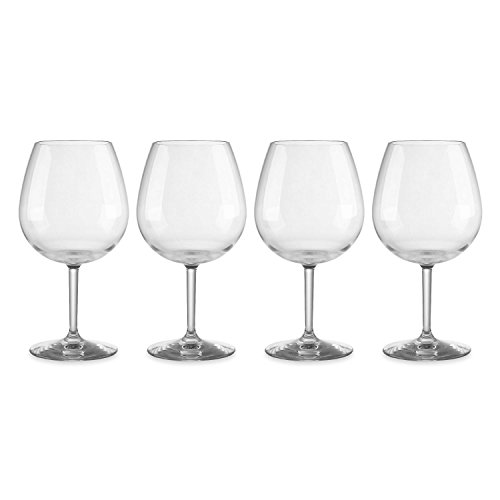 Gourmet Art 4-Piece Shatterproof Tritan 23oz Wine Glass