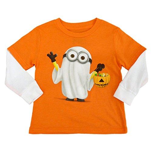 Despicable Me Infant & Toddler Boys Orange Minion Ghost Halloween Shirt (Despicable Me Halloween)