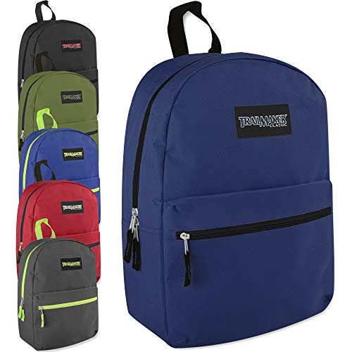 Classic 17 Inch Backpack Case Pack 24 (Assorted 6 Color Pack) -