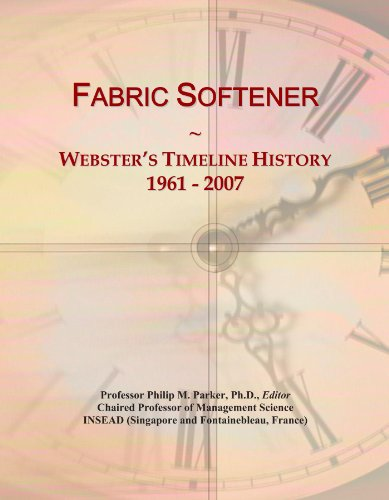 (Fabric Softener: Webster's Timeline History, 1961-2007)