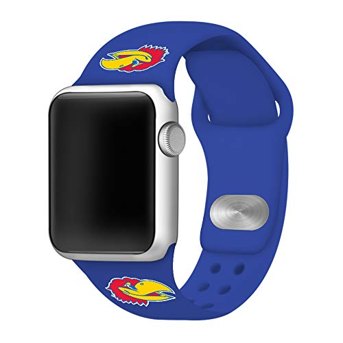 Affinity Bands Kansas Jayhawks 42mm Silicone Sport Band Compatible with Apple Watch - Band ONLY - Kansas Wrist Watch