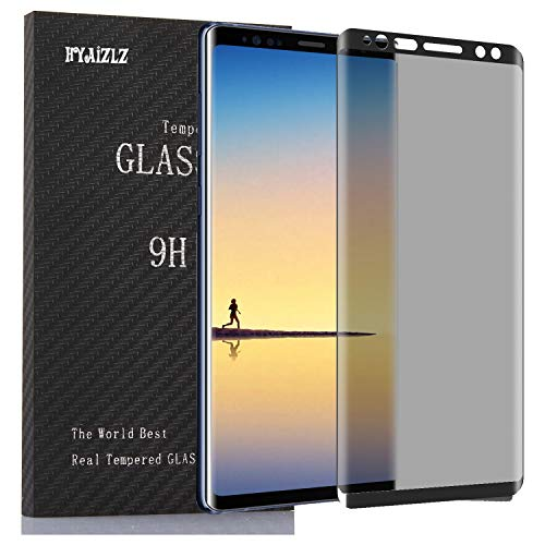 Galaxy Note 9 Privacy Screen Protector,HYAIZLZ(TM) 2pcs 9H Hardness Tempered Glass Anti-Spy Screen Protector Shield for Samsung Galaxy Note 9,Color Black