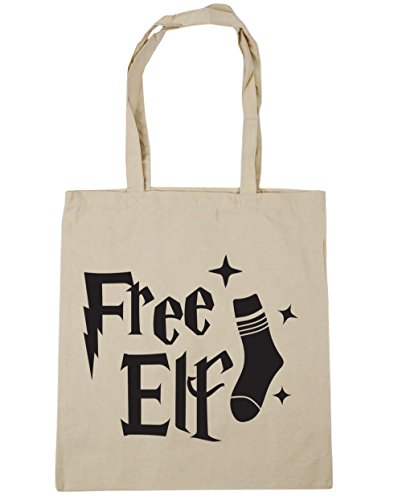 Tote Beach Gym 42cm Free HippoWarehouse Bag 10 Elf Shopping Natural x38cm litres qwXEU41